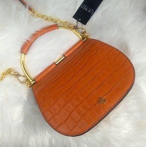 🍊Ralph Lauren Orange Mason Satchel Crossbody Bag